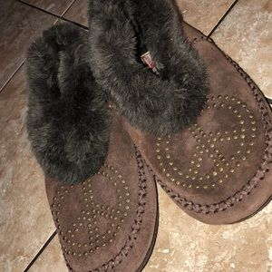 Authentic Lucky Brand fur moccasins